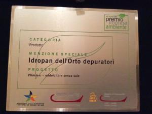 Riconoscimento Premio impresa Ambiente